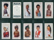 Collectible  cigarette cards Children of all Nations, Siam, China , Greece , Turkey